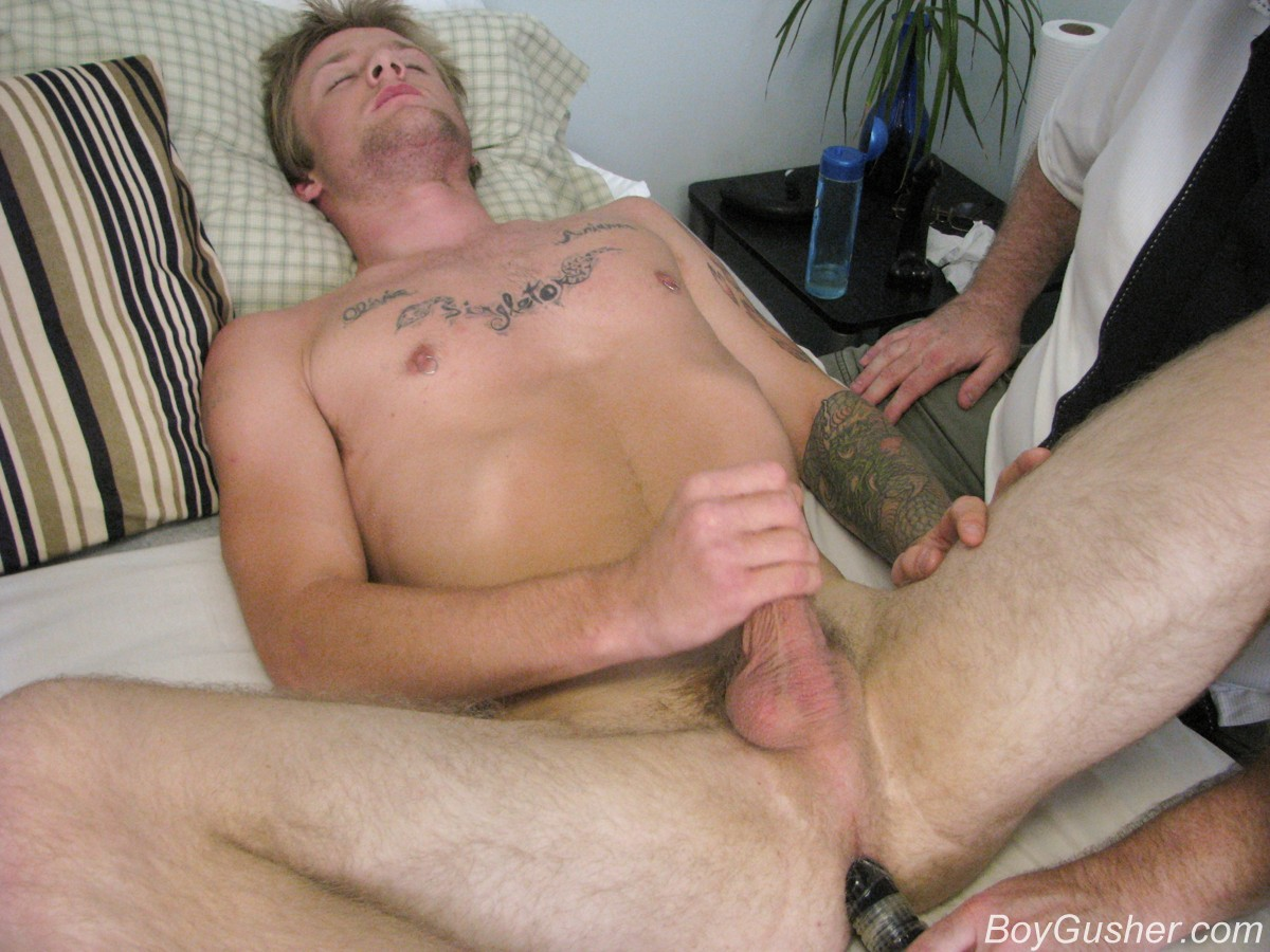 Men masturbating with dildo