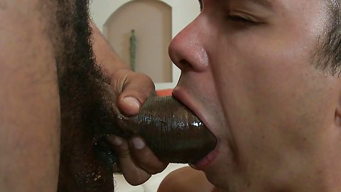 Very old dick gay a cream colored facial 2