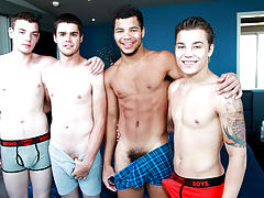 gay young naked males showering