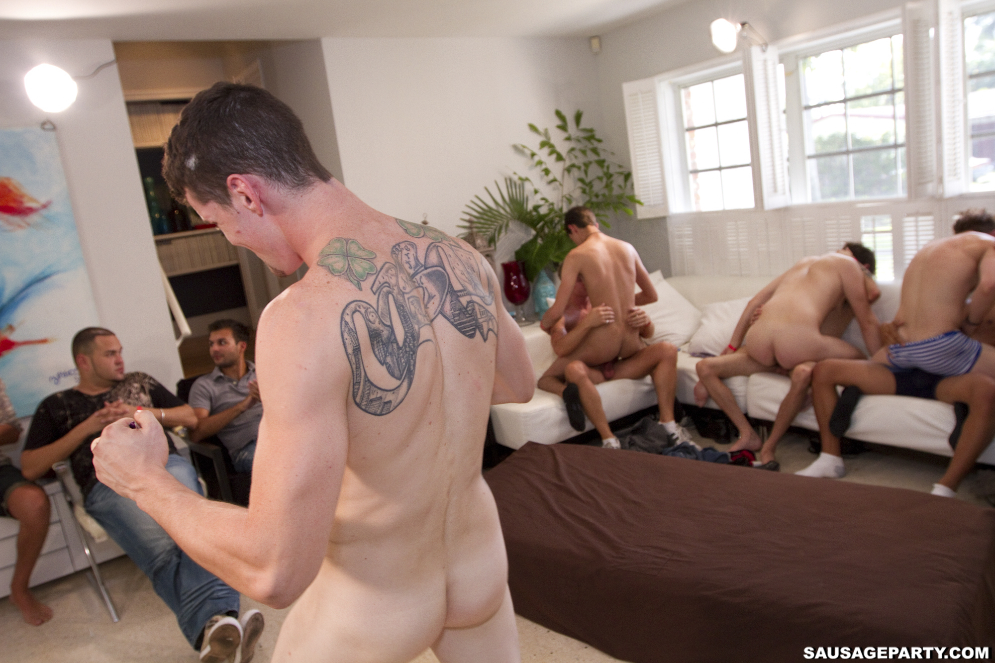 Gay Handjob Party