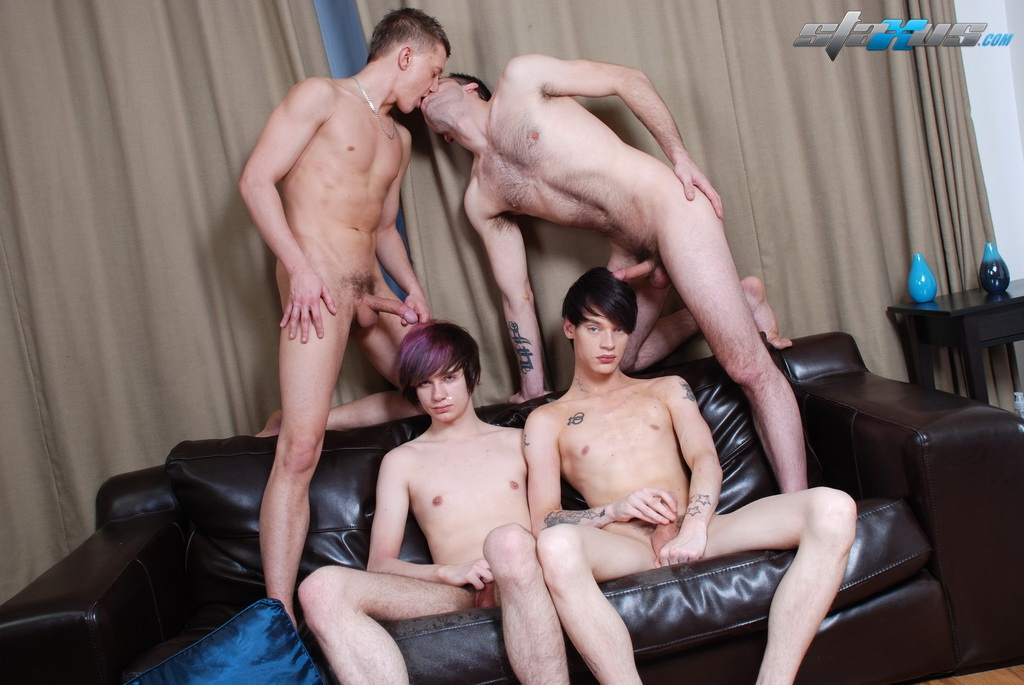 Emo gay boys suck cum first time caden gets